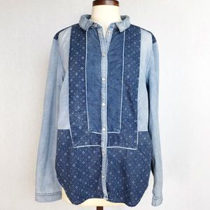 Holding Horses Denim button down